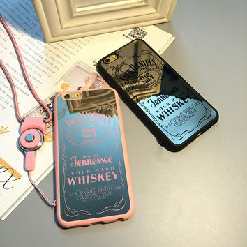 "Luxury Whisky Jack Daniels Black & Pink phones case for iPhones ""FREE SHIPPING"""