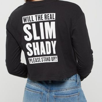 Eminem Crop Top | Long Sleeve Graphic Tees | rue21