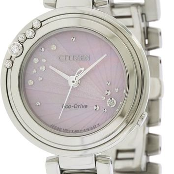 Citizen Eco-Drive L Carina Stainless Steel Watch EM0460-50N