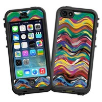 """Wavy Paint Swirls """"Protective Decal Skin"""" for LifeProof nuud iPhone 5 Case"""