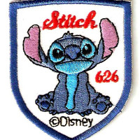 STITCH Alien in Lilo & Stitch Movie Disney Embroidered Iron On / Sew On Patch