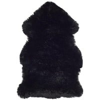 Safavieh Sheep Skin SHS121C Midnight Black Rug