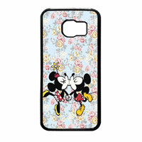 Mickey Kiss Minnie Disney Flowers Samsung Galaxy S6 Case