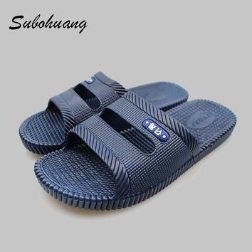 Men's Slippers Beach Sea Leisure Shoes Non-slip Bottom of the Massage Indoor And Outdoor Take a shower Sandals Hot Selling
