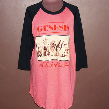 Workout Shirts — Vintage Genesis Concert Tee Band Tshirt Baseball T Shirt Raglan Tee Music Clothing