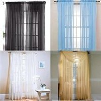 Lot Colors Door Window Curtain Drape Panel or Scarf Assorted Scarf Sheer Voile [7864041863]