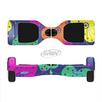 The Bright Colored Cartoon Flowers Full-Body Skin Set for the Smart Drifting SuperCharged iiRov HoverBoard