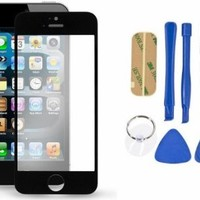Mouse over image to zoom Replacement LCD Front Screen Glass Lens & Tools Kit for iPhone 5 5G 5S 5C Black