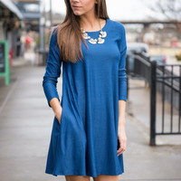 The Darla Dress, Indigo
