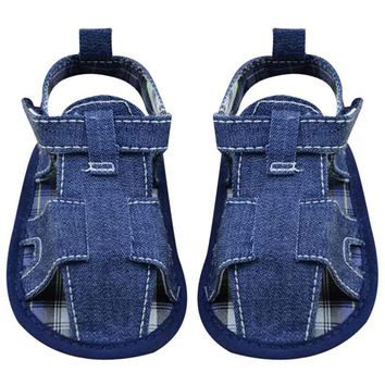 Baby Shoes Summer Blue Jean Toddler First Walkers Shoes For Girls Kids Anti-slip Shoes