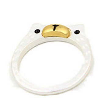 Silver Bear Gradient Band Ring
