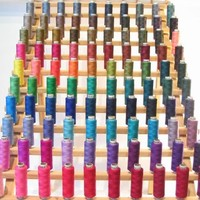New ThreadNanny 200 Spools of Polyester sewing quilting thread - Assorted Colors
