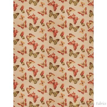 Charleston Maraca Persimmon Novelty Fabric
