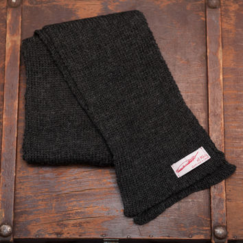 The Scarf   Charcoal Wool