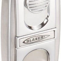 Blazer Chief II Cigar Lighter with Snap-In Cigar Cutter, Chrome