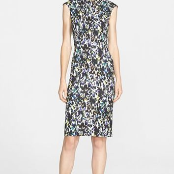 Women's Erdem Print Silk Ponte Jersey Dress,