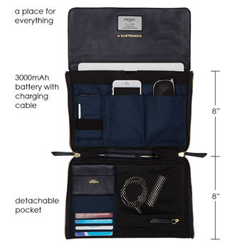 Elektronista Digital Handbag - Navy