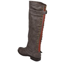 Journee Collection Womens Regular Sized, Wide-Calf and Extra Wide-Calf Studded Knee-High Riding Boot