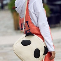 Wholesale Special Panda Design Messenger Bag Beige