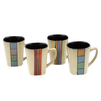 Gibson Elite Cimarron set of 4 Coffee Mugs