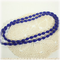 Blue Beads, Beaded Necklace, Blue Necklace, Glass Bead, Fashion Necklace