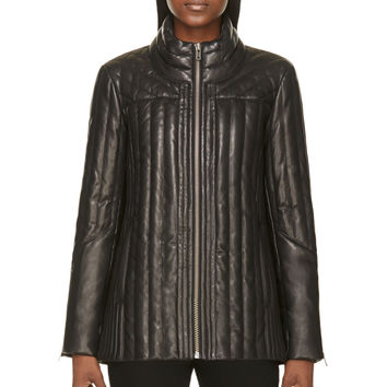 Helmut Lang Black Leather Petal Jacket