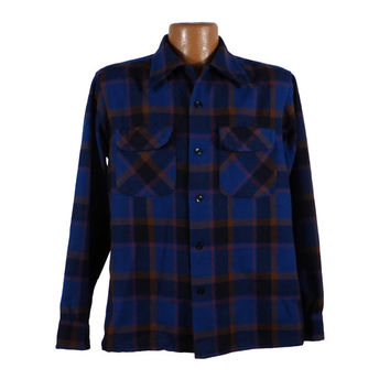 Pendleton Board Shirt Vintage Plaid Wool M