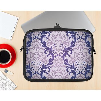 The Royal Purple Laced Wallpaper Ink-Fuzed NeoPrene MacBook Laptop Sleeve