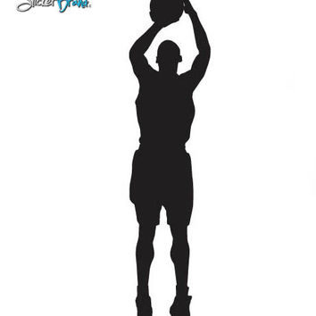 Vinyl Wall Decal Sticker Basketball Shooter #339