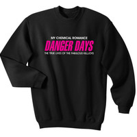 My Chemical Romance Danger Days MCR Sweater Sweatshirts White Black S, M, L, XL