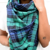 Green Multi Blanket Scarf