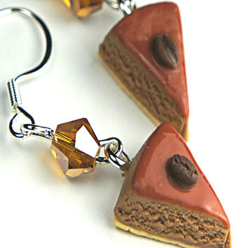 Tiramisu Cake Dangle Earrings