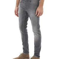 Grey Stretch Skinny Jeans - Mens Jeans - Clothing