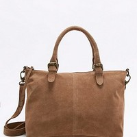 Fern Brown Suede Tote Bag - Urban Outfitters