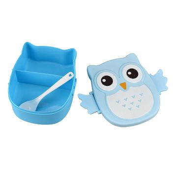 Lovely pet hot selling fashion Portable Owl pattern food-safe plastic Food Container Storage Box organizer Jul26