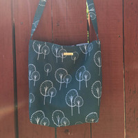 Slouch Bag-Hobo Bag-Shoulder Bag-Lotta Jansdotter Trees