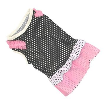 Polka Dot Pink, and Grey Cat Dress Costume
