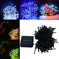KISS-THE NIGHT Solar Powered Outdoor String Solar Fairy String Lights for Outdoor Christmas
