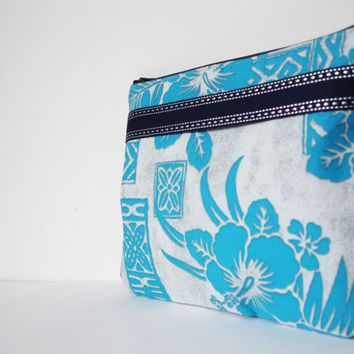 Blue cosmetic pouch,Make up bag,Make-up pouch,Cosmetic bag