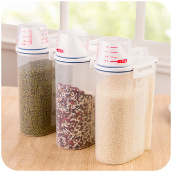 Plastic Storage Box Kitchen Sealed Cans [6034341697]