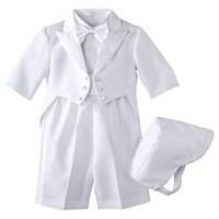 Infant Boys' Authentic Tux with Tails - White : Target