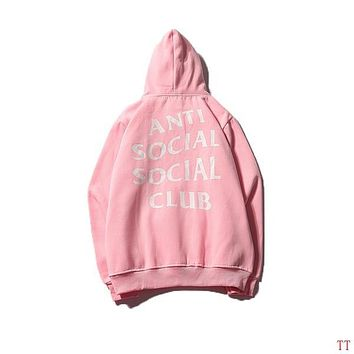 Anti Social Social Club Woman Men Fashion Top Sweater Pullover Hoodie