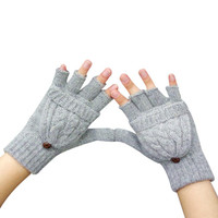 Mitten Warmer Women Winter Glove Fingerless