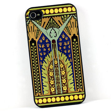 Art Deco iPhone Case iPhone 4 and 4S Blue by DecorativeDesignWKS