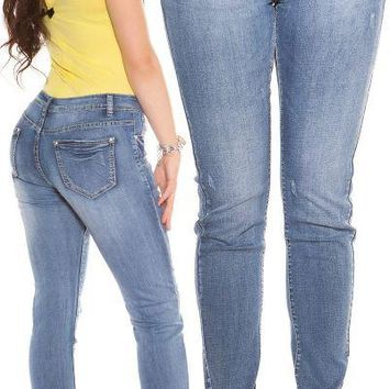 Push Up Mid Rise Skinny Curvy Sexy Jeans