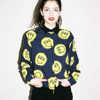 Lazy Oaf | Lazy Oaf | Happy Repeat Crop Shirt