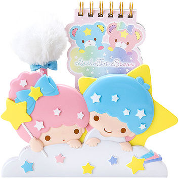 Buy Sanrio Little Twin Stars Notebook & PomPom Pen Set in Die-Cut Stand at ARTBOX