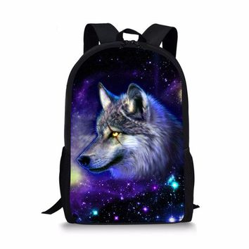 Boys bookbag trendy Customized Primary School Bags Wolf Print Backpack Kids Boys Student Schoolbag Children  Bolsa Escolar Mochila Infantil AT_51_3