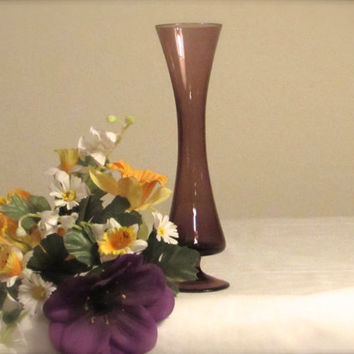 Amethyst Colored Vase, Blown Glass Vase Bud Vase, Mother's Day Gift, laslovelies