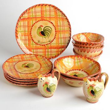 Plaid Rooster Dinner Party Bundle